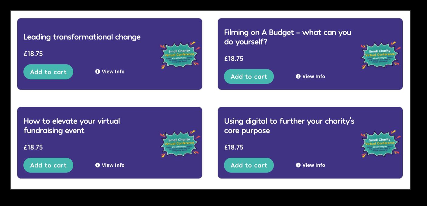 screenshot of Fundraising Everywhere webinars